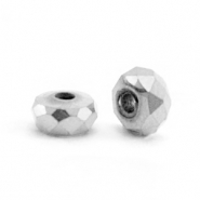 Perlen aus Hematite Facett Disc 4x2mm Silver grey