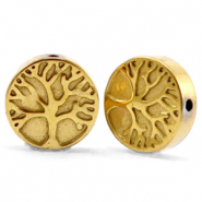 Perlen aus Hematite Tree of Life 10mm Gold