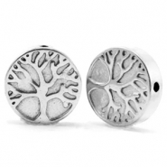 Perlen aus Hematite Tree of Life 10mm Silver grey