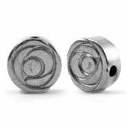 Perlen aus Hematite Rose 8mm Anthracite grey