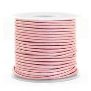 DQ Leder Spar Rollen rund 1 mm Powder pink metallic