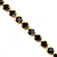 Strass Kette Black-gold