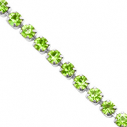 Strass Kette Lime green-silver