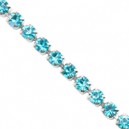 Strass Kette Turquoise blue-silver