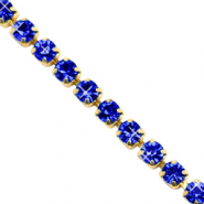 Strass Kette Cobalt blue-gold