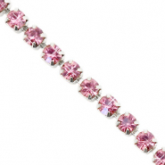 Strass Kette Hawthorn rose-silver