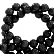 Polaris Perle 6mm rund pearl shine Nero black