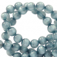 Polaris Perle 8mm rund pearl shine Acquario blue