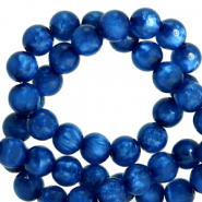 Polaris Perle 8mm rund pearl shine Iolite blue