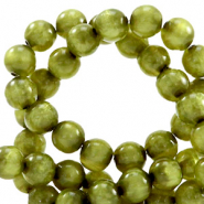 Polaris Perle 6mm rund pearl shine Origano green