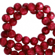 Polaris Perle 6mm rund pearl shine Rubino red