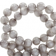 Polaris Perle 6mm rund pearl shine Acciaio grey