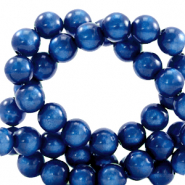 Super Polaris Perle 8mm rund Iolite blue