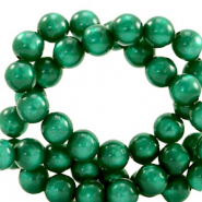 Super Polaris Perle 6mm rund Agate green
