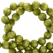 Super Polaris Perle 8mm rund Origano green
