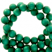 Super Polaris Perle 6mm rund matt Agate green