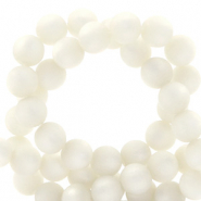 Super Polaris Perle 6mm rund matt Bianco white