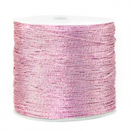 Metallic Band Macramé 0.5mm Orchid bloom rose