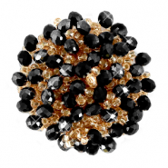 Perlen Ornament Cluster Jet black