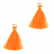 Quaste Perlen 1.5cm Gold-flame orange