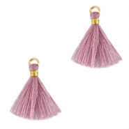 Quaste Perlen 1.5cm Gold-light mauve purple