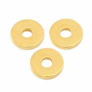 Perlen Metall DQ Disc Rondellen 6x1mm Gold (Nickelfrei)