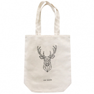 "Trendy Tasche Canvas ""oh deer"" Off white"