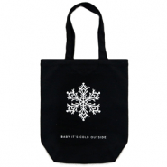 "Trendy Tasche Canvas ""baby it's cold outside"" Black"