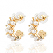 Musthave Ohrringe pearl Creolen 25mm Gold-off white