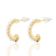 Musthave Ohrringe pearl Creolen 16mm Gold-off white