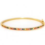 Zirconia Rainbow Bangle Armband Gold