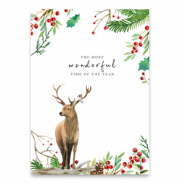 "Karten für Schmuck ""the most wonderful time of the year"" White-brown"