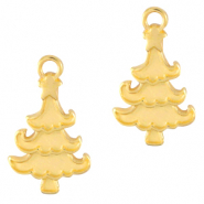 Anhänger Metall DQ Christmas Tree Gold (Nickelfrei)
