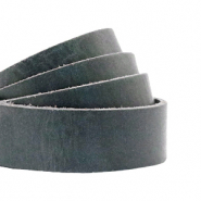 DQ Leder flach 20mm Bluestone grey
