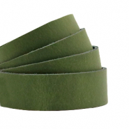 DQ Leder flach 20mm Soft guacamole green