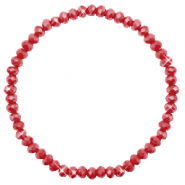 Facetten Glas Armband 4x3mm Chillipeper red-pearl shine coating