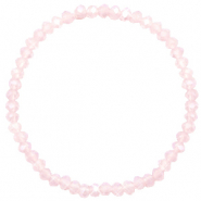 Facetten Glas Armband 4x3mm Peach pink opal-pearl shine coating