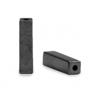 Perlen aus Hematite Tube Anthracite grey