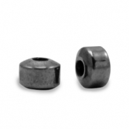 Perlen aus Hematite Disc Anthracite grey