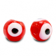 Glas Perlen 8 mm Nazar Auge Red