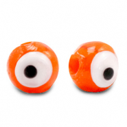 Glas Perlen 6 mm Nazar Auge Orange