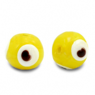 Glas Perlen 6 mm Nazar Auge Yellow