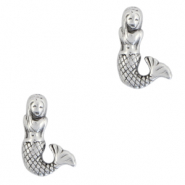 Perlen Metall DQ Mermaid Antik silber (Nickelfrei)