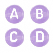 Acryl Buchstaben Mix  Lilac purple transparent