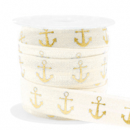 Band elastisch Anker Silk white-gold