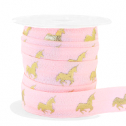 Band elastisch Unicorn Light pink-gold