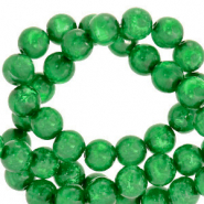 Polaris Perle 6mm rund Mosso shiny Bright green