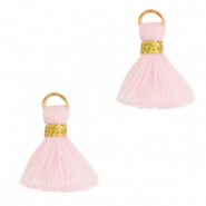 Quaste Perlen 1.5cm Gold-light pink
