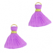 Quaste Perlen 1.5cm Gold-light purple