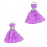 Quaste Perlen 1.5cm Silver-light purple